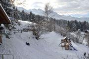 Winter-Rodeln-Spielplatz